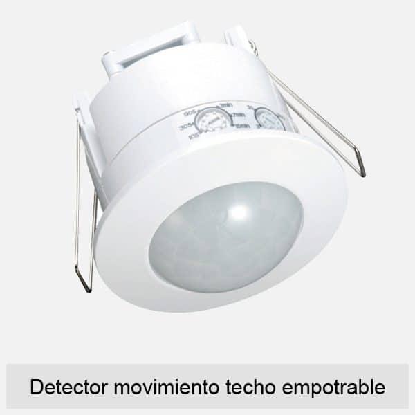 Detector movimiento techo empotrable