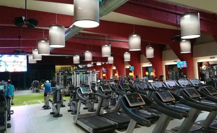 Gimnasio Iluminación sala fitness