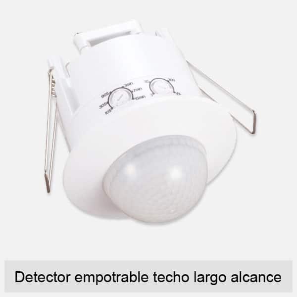 Detector empotrable para techo largo alcance
