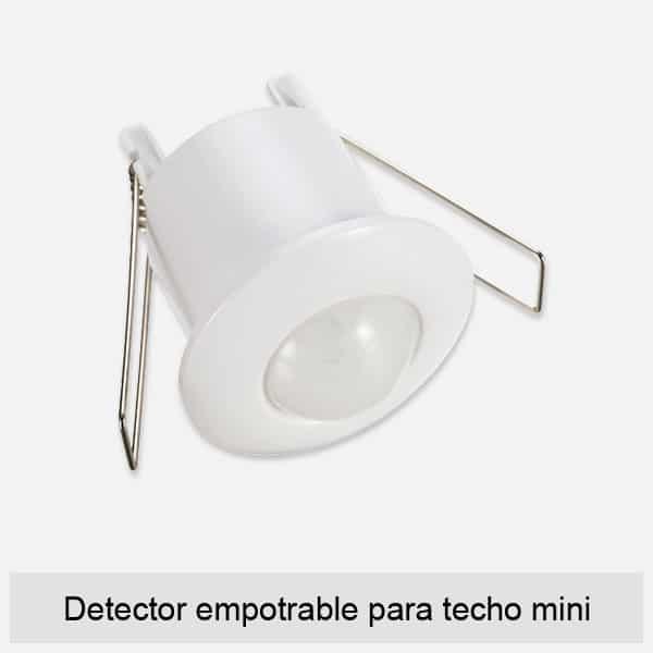Detector empotrable para techo mini