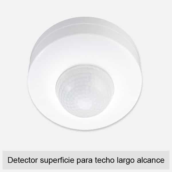 Detector superficie para techo largo alcance