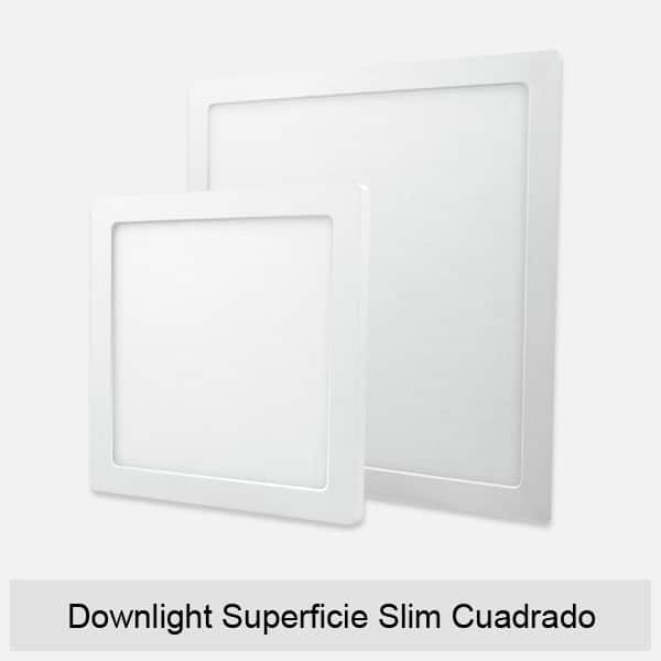 Downlight Superficie Slim Cuadrado