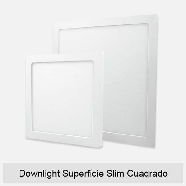 Downlight Superficie Slim Cuadrado