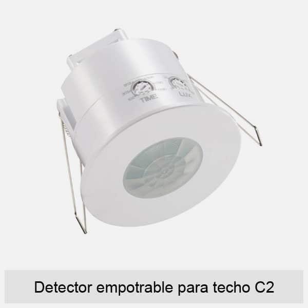 Detector empotrable para techo C2