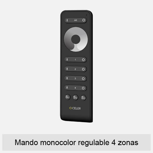 mando monocolor regulable 4 zonas