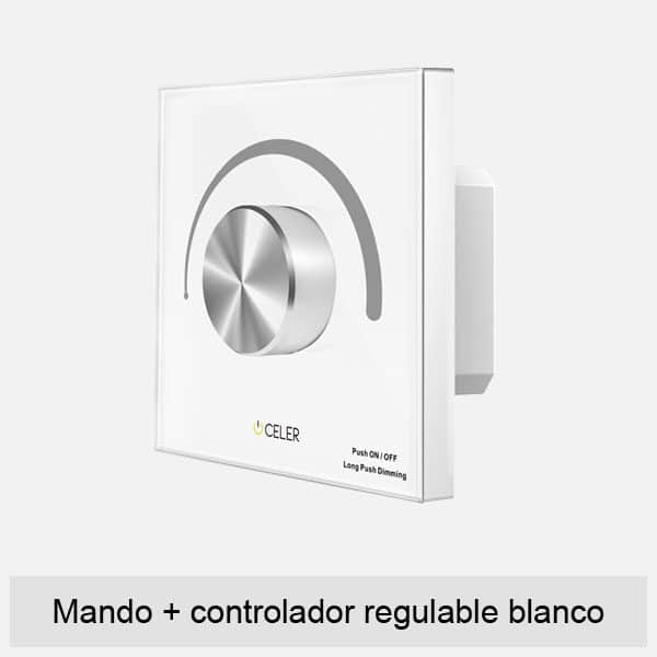 mando controlador regulable blanco