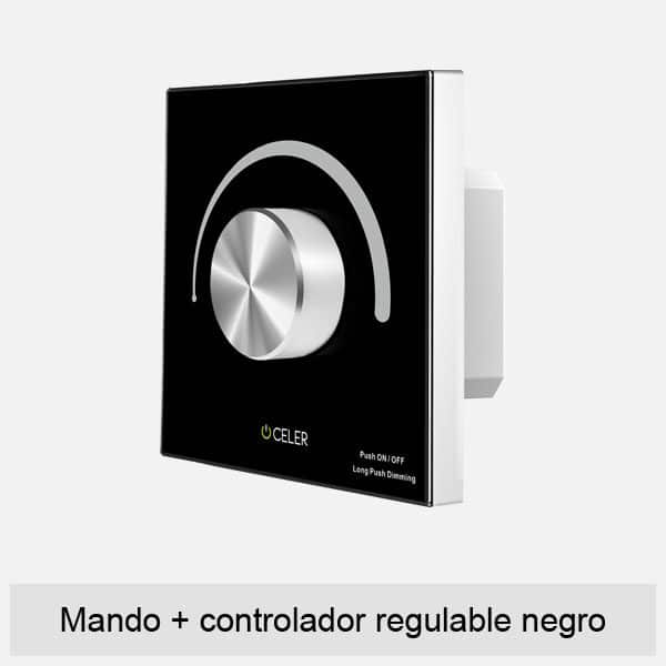 mando+controlador regulable negro