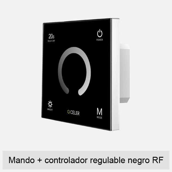 mando+controlador regulable negro rf