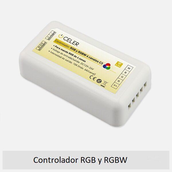 Controlador RGB y RGBW