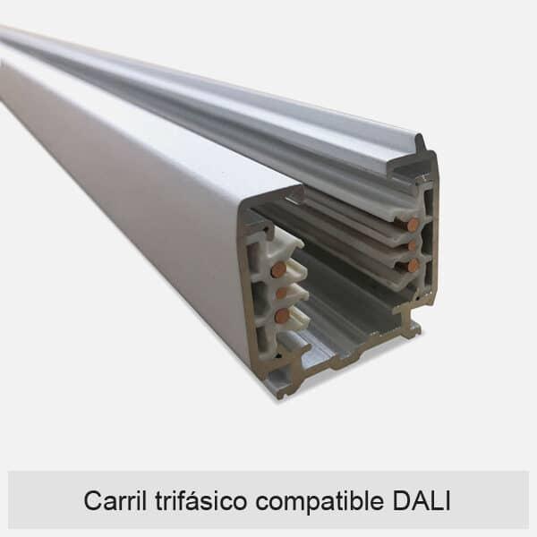 Carril trifásico compatible DALI