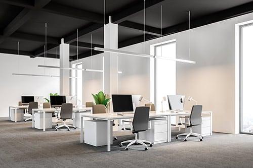 Oficinas e iluminación regulable