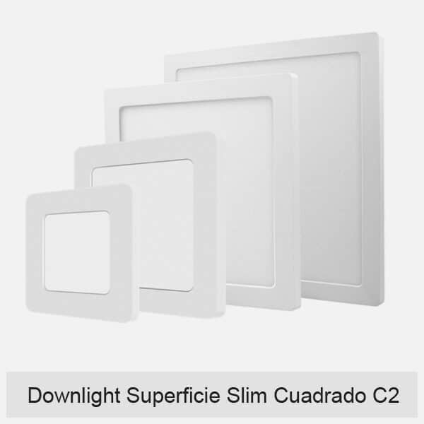 Downlight Superficie Slim Cuadrado C2
