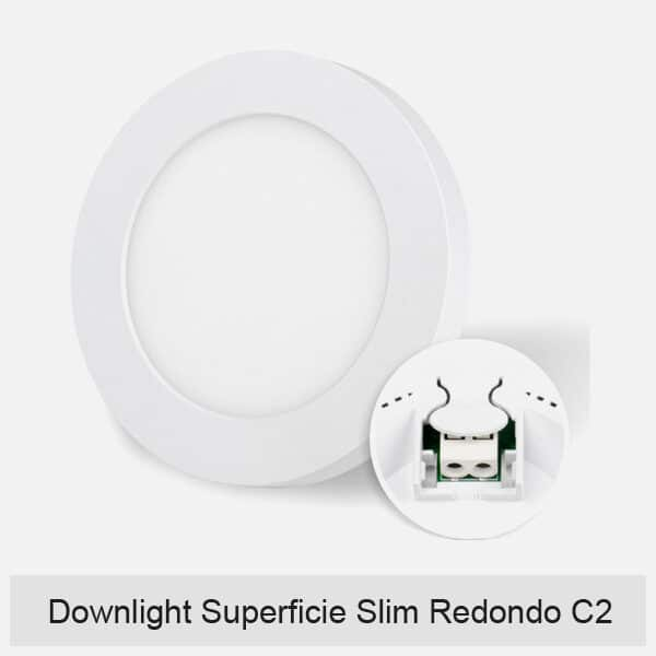 Downlight Superficie Slim Redondo C2