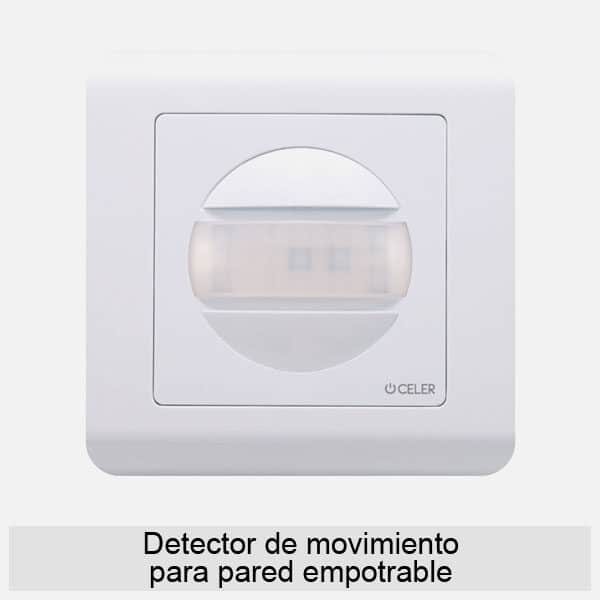 Detector de movimiento pared empotrable