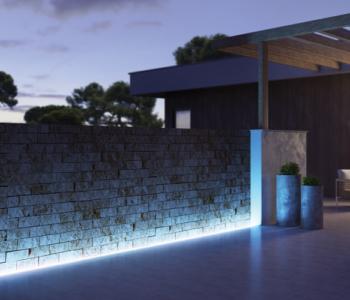 ¿Cómo iluminar el exterior de una vivienda unifamiliar?