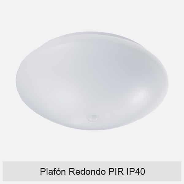 Plafón Redondo PIR IP40